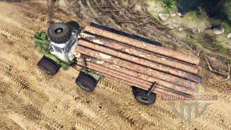 T-150K bois pour Spin Tires
