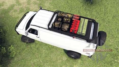 Ford E-350 Econoline 1990 v1.1 white für Spin Tires