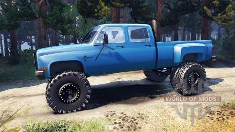 Chevrolet Silverado Dually Crew Cab v1.4 blue pour Spin Tires
