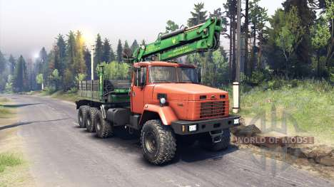 KRAZ-7140 orange für Spin Tires