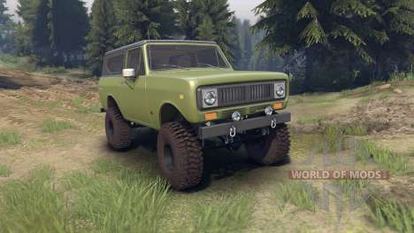 International Scout II 1977 grenoble green pour Spin Tires
