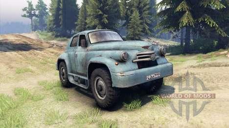 GAZ-M-20 de la Victoire personnalisé pour Spin Tires