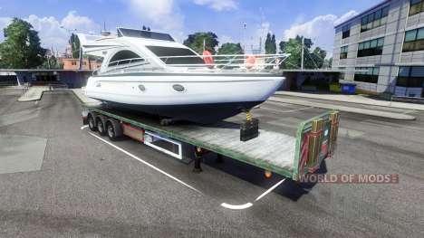 Der trailer mit dem Boot für Euro Truck Simulator 2