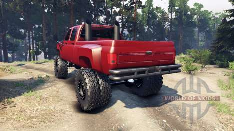 Chevrolet Silverado Dually Crew Cab v1.4 red pour Spin Tires