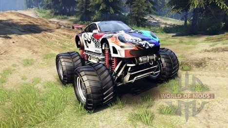 Porsche 911 GT3 RSR Monster für Spin Tires