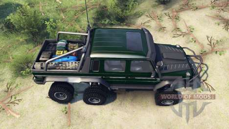 Mercedes-Benz G65 AMG 6x6 Final dark green pour Spin Tires