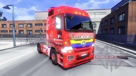 La peau de Santa Fe, de la Colombie sur le tract pour Euro Truck Simulator 2