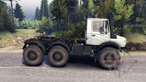 Mercedes-Benz Unimog U1500L 6х6 grey pour Spin Tires