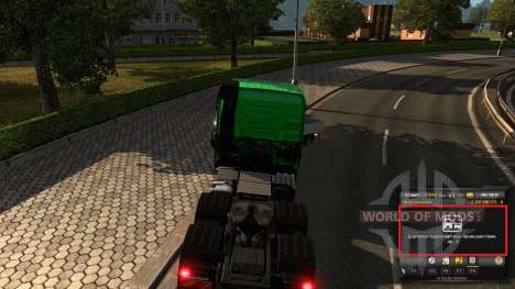 Mod auf Erfahrung und Geld v1.2 für Euro Truck Simulator 2