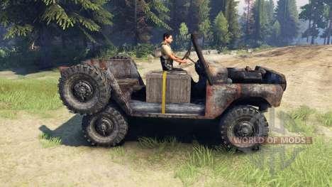UAZ-469 rouillé pour Spin Tires