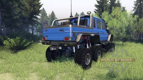 Mercedes-Benz G65 AMG 6x6 Final blue pearl pour Spin Tires