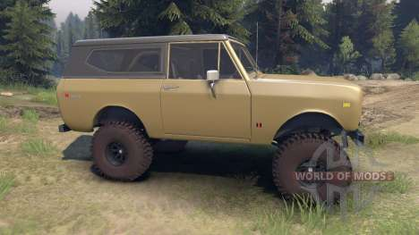 International Scout II 1977 buckskin pour Spin Tires