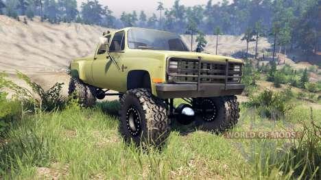 Chevrolet Silverado Dually Crew Cab v1.4 green pour Spin Tires