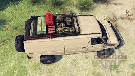 Ford E-350 Econoline 1990 v1.1 tan für Spin Tires