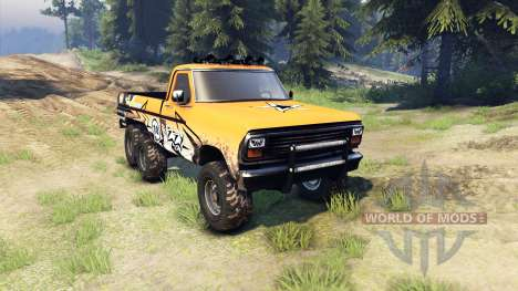 Ford F-100 6x6 custom pour Spin Tires