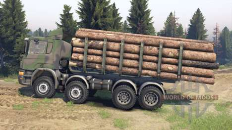 Scania Timber für Spin Tires