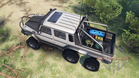 Mercedes-Benz G65 AMG 6x6 Final athlet silver pour Spin Tires