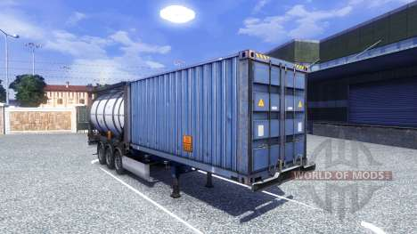 Le conteneur semi-remorque pour Euro Truck Simulator 2