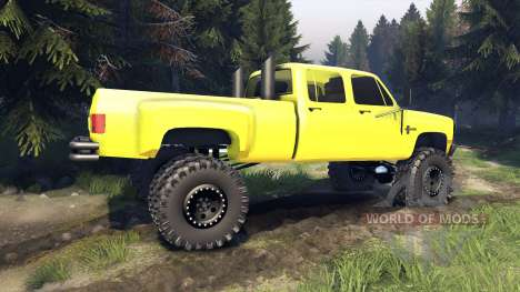 Chevrolet Silverado Dually Crew Cab v1.4 yellow für Spin Tires