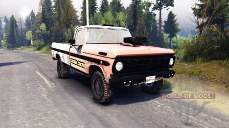 Ford F-100 custom PJ2 pour Spin Tires