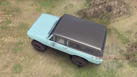 International Scout II 1977 glacier blue pour Spin Tires