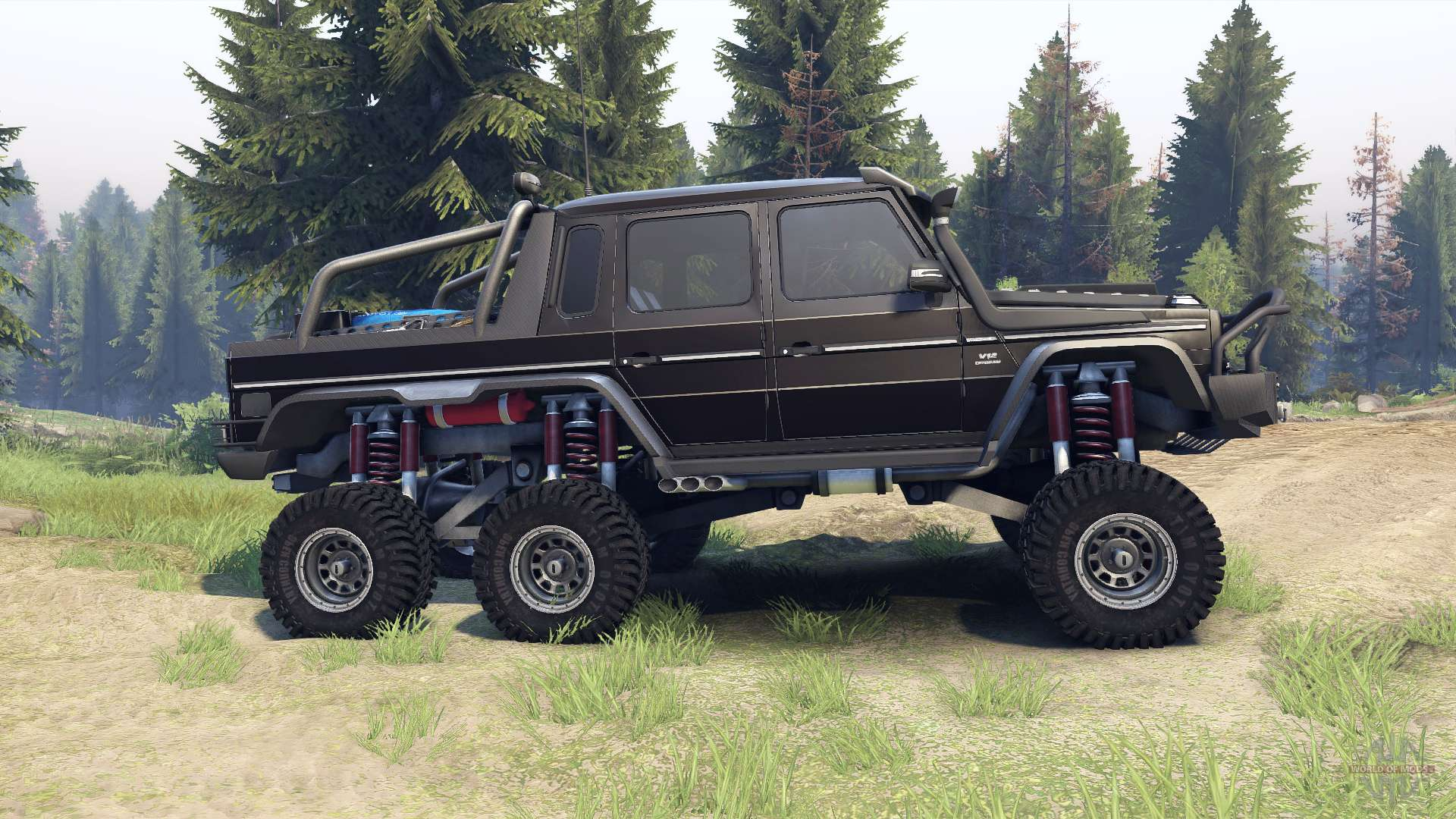 Mercedes Benz G65 Amg 6x6 Final Brilliant Black F 252 R Spin Tires