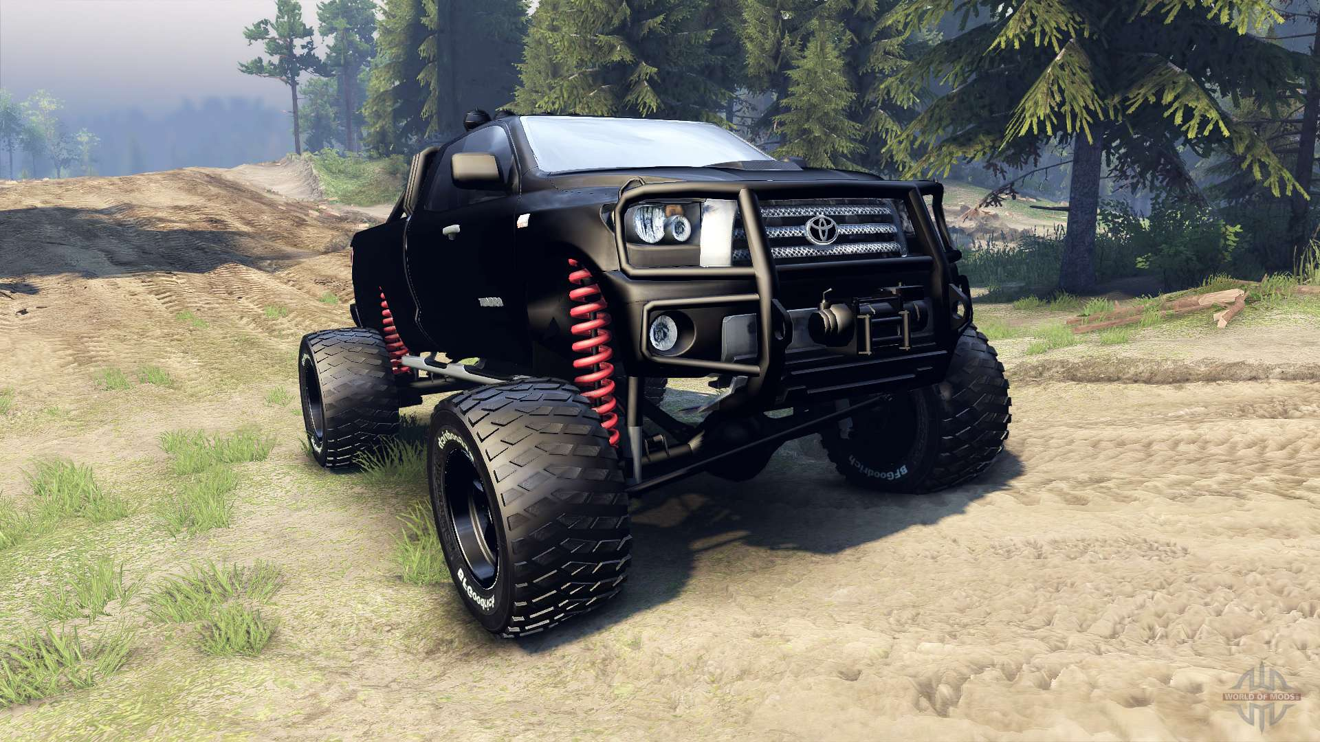 Toyota tundra off road pour spin tires