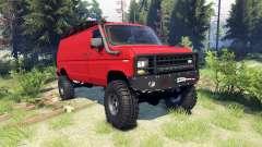 Ford E-350 Econoline 1990 v1.1 red