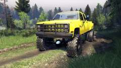Chevrolet Silverado Dually Crew Cab v1.4 yellow