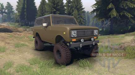 International Scout II 1977 drab green pour Spin Tires