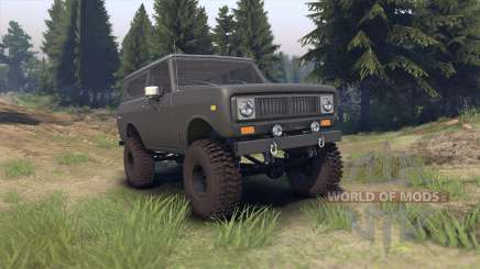 International Scout II 1977 gray pour Spin Tires