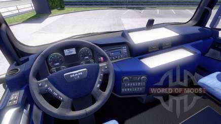Blaue Innenausstattung, MANN für Euro Truck Simulator 2