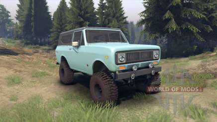International Scout II 1977 glacier blue pour Spin Tires