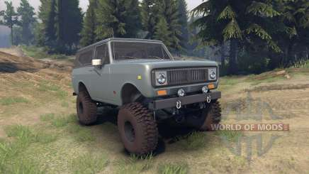 International Scout II 1977 agent silver pour Spin Tires
