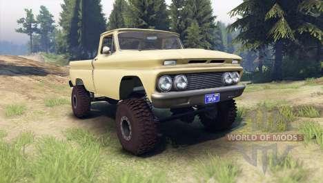 Chevrolet С-10 1966 Personnalisé de bois de sant pour Spin Tires