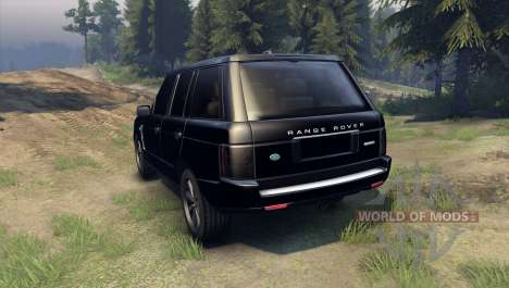Range Rover Sport Black Final pour Spin Tires