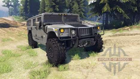 Hummer H1 army grey für Spin Tires