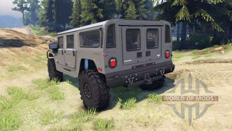 Hummer H1 army grey pour Spin Tires