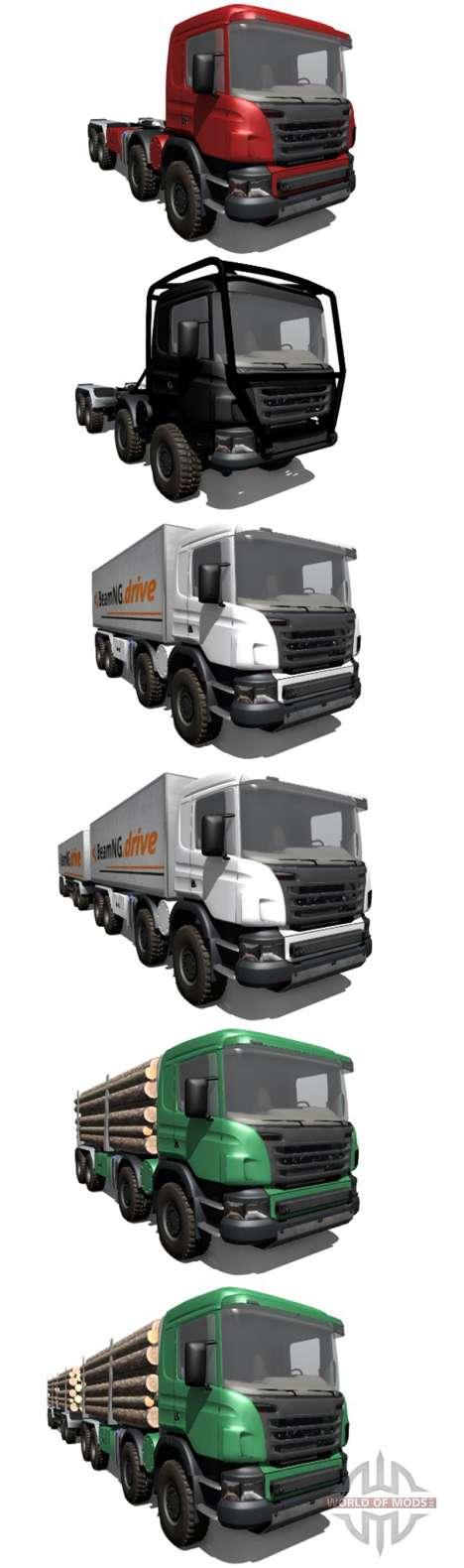Scania 8x8 heavy utility truck für BeamNG Drive