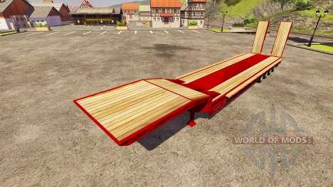 Semi-Schleppnetz Goldhofer für Farming Simulator 2013