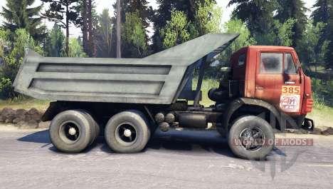 KamAZ-5511 blanc treillis pour Spin Tires
