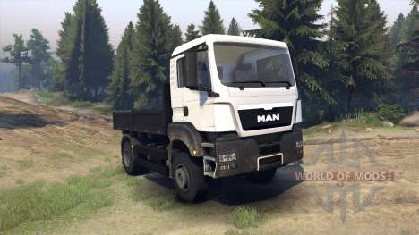MAN TGS Little Flatbed pour Spin Tires
