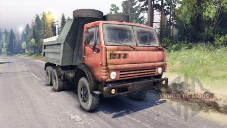 KamAZ-5511 rouge grille pour Spin Tires