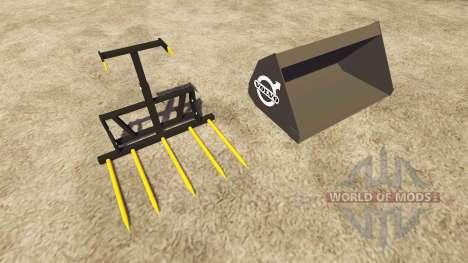 Godet et fourches Volvo pour Farming Simulator 2013