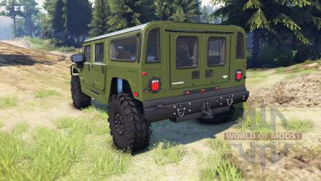 Hummer H1 green pour Spin Tires