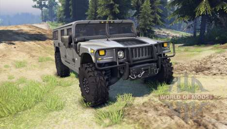 Hummer H1 gray pour Spin Tires