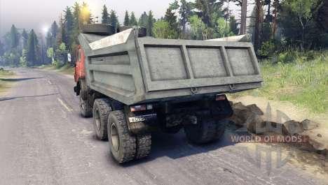 KamAZ-5511 rot Kühlergrill für Spin Tires