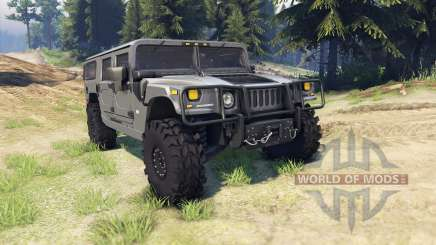 Hummer H1 army grey für Spin Tires