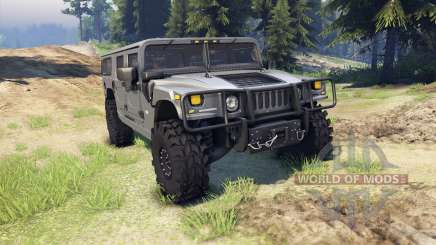 Hummer H1 gray für Spin Tires
