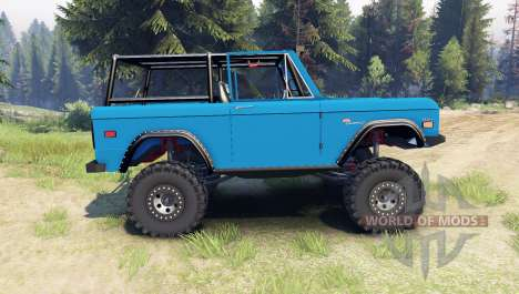 Ford Bronco 1966 [blue] pour Spin Tires